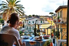 DSC_4510 (annaholmbom) Tags: food beautiful dinner italian colours wine balcony palm palmtree vin cinqueterre patrik balkong corniglia 5terre