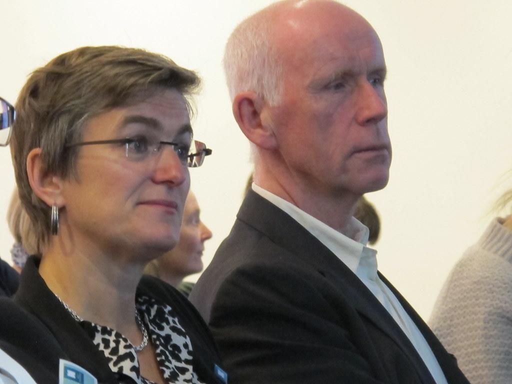 Ellen Hambro, direktør for Miljødirektoratet, og Per Sanderud, direktør for Norges vassdrags-og energidirektorat (NVE). Foto: Kjerst Dørumsgaard Moxness. Miljødirektoratet