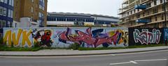 DSC_4027000 (surreyblonde) Tags: urban streetart art wall canon graffiti sussex nikon bright spray cans graff hoardings poweshot d3200 a3350is