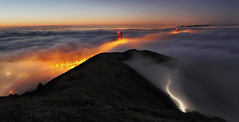 Autumn Fog at Slacker Ridge (Andrew Louie Photography) Tags: sf life california camera bridge blue autumn friends love coffee beauty fog sunrise canon landscape photography golden interesting gate san francisco peace sfo vibrant marin hill jazz ridge hour passion headlands wonderland drama magical epic jazzy slacker