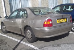 Rover 623GSi (occama) Tags: old uk car beige cornwall 1996 rover 1997 british gsi 623 p112acd