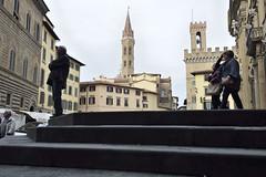 steetArt3 (digifiore) Tags: scale arte gente case persone campanile donne firenze urbano monumenti paesaggio siluette edifici uomini
