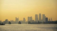 London from the Woolwich Ferry