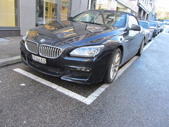 BMW 650i Cabriolet (v8dub) Tags: auto car schweiz switzerland automobile suisse convertible automotive voiture bmw 650 fribourg freiburg cabrio cabriolet wagen pkw