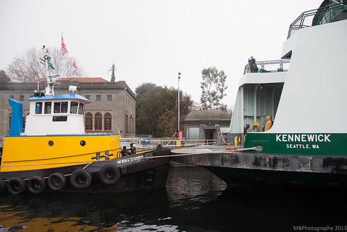 Little tug, big ferry
