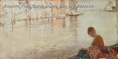 Eugenio Prati Canal grande con rag Bozzetto