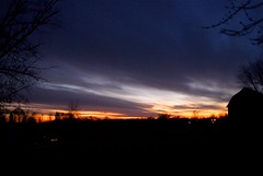 goodbye 2013 (LaLa83) Tags: blue winter sunset ohio sky orange december sony newyearseve alpha a230 fairfieldcounty 2013 ruralohio stoutsville ohiofoothills