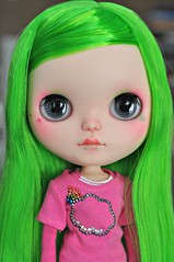 Lime Nes <3 (Lawdeda ) Tags: green colors by fun with bright awesome adorable yay blythe nes lime custom friday smee fbl reroot pamsdolls