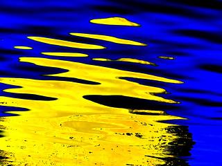 Abstract Sun Buoy Reflection