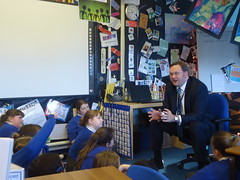 "Stephen Mosley MP visits Year 6 pupils at Highfield Primary School • <a style=""font-size:0.8em;"" href=""http://www.flickr.com/photos/51035458@N07/12119365143/"" target=""_blank"">View on Flickr</a>"