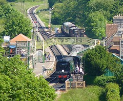 Manston at Corfe (Deepgreen2009) Tags: station rural train railway dorset preserved swanage corfecastle manston spamcan bulleid uksteam