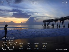 Vero Beach weather on the Yahoo weather app (Symbiosis) Tags: chicago print published professionalphotographer publications freelancephotographer daneidsmoe danieleidsmoe uploaded:by=flickrmobile flickriosapp:filter=nofilter photographerdaneidsmoe