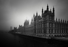 London (vulture labs) Tags: street city uk travel bridge winter england sky urban blackandwhite bw white snow storm black building london art water monochrome westminster weather fog thames skyline architecture river landscape photography photo nikon cityscape capital wide housesofparliament parliament bigben monotone monochromatic icon londres nikkor iconic atmospheric gettyimages cityoflondon palaceofwestminster londonskyline bwlondon d700 1424mm vulturelabs