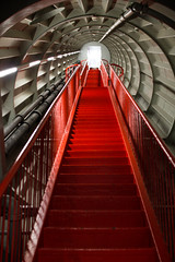 37/365 Architecture futuriste (Laure Borel) Tags: red stairs rouge bruxelles sphere atomium escalier 2014 30mmf14