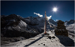 How Far Is Heaven (MANUELup) Tags: nepal moon mountain snow expedition stars altitude nieve peak luna estrellas himalaya montaña select thorung