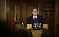 Prime Minister's press conference on flooding (The Prime Minister's Office) Tags: uk london pm primeminister downingstreet no10 davidcameron primeministerdavidcameron