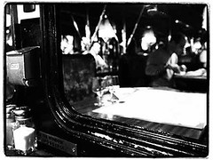 On-the-wagon (Clmence GRINCOURT de FLOGNY) Tags: city travel blackandwhite bw paris monochrome night europe cityscape noiretblanc capital capitale nuit 2014 photonight