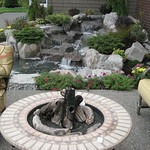 "Charming Water Feature by Greenhaven Landscapes <a style=""margin-left:10px; font-size:0.8em;"" href=""http://www.flickr.com/photos/117326093@N05/12994822174/"" target=""_blank"">@flickr</a>"