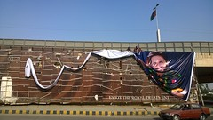 Boom Boom everywhere (Raja Islam) Tags: pakistan light man men work dangerous raw board ad working royal billboard cricket enjoy setup pepsi suzuki khan karachi shahid treatment tubelight margalla afridi