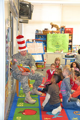 Students participate in Read Across America Week (U.S. Army Garrison Japan) Tags: birthday america child read across drseuss development forward usar campzama icorps usagjapan