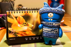 Uglyworld #2238 - Imager Ofs The Weeks - (Project On The Go - Image 70-365) (www.bazpics.com) Tags: blue orange flower wool hat yellow project germany toy deutschland march blog focus cookie day dof calendar desk action handmade crochet vinyl knit website aachen figure ladybird ladybug cave 365 adventures 11th custom uglydoll mireille wedgie uglydolls 2014 wedgehead uglyworld prettyugly barryoneilphotography adventuresinuglyworld uglyadventures