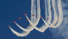 Red Arrows over RAF Scampton, Lincolnshire (Paul Simpson Photography) Tags: plane airplane hawk flight jet aeroplane redarrows photosof imageof theredarrows imagesof 50yearsof sonya77 paulsimpsonphotography march2014