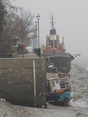 Low Tide (Star Watcher) Tags: fog quay moorings bideford