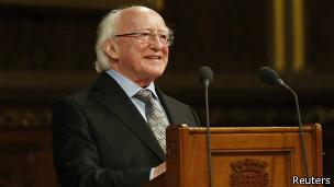 爱尔兰总统希金斯在英国议会发表演讲