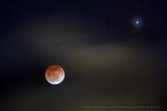 Hawaii Lunar Eclipse with Cloud and Star (Rex Maximilian) Tags: moon clouds hawaii oahu fullmoon honolulu nightsky lunareclipse bloodmoon