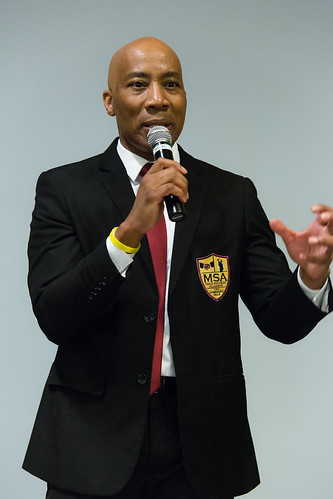 """We're not asking for anything, we want only to pull excellence from you."" -- Dr. William Franklin (pictured here), Associate Vice President of Student Success • <a style=""font-size:0.8em;"" href=""http://www.flickr.com/photos/31789702@N05/13984278538/"" target=""_blank"">View on Flickr</a>"