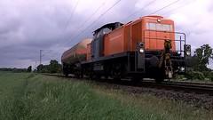 295 057-4 Bocholder Eisenbahn at Meerbusch-Bosinghoven Germany 12-5-2014. (pipoclown269) Tags: train diesel eisenbahn zug locomotive loc bahn beg trein lok eisenbahnen bocholder 2950574 bocholdereisenbahn