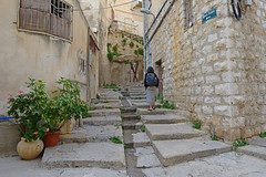 Nazareth, Israel (simpsongls) Tags: road abandoned israel alley outdoor poor steps neighborhood walkway wife maze lonely citystreets deserted oldcity nazareth