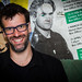 Comedy Gig 2014 Marcus Brigstocke smiley back stage credit Aimee Valinski