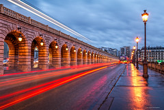 Paris (Julianoz Photographies) Tags: street paris rain subway europe cityscape explorer mtro trails pluie explore pont capitale traficlight pontdebercy nikond7000 julianozphotographies nikkorafs1835mmf3545ged