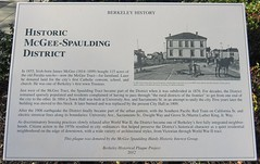 Historic McGee-Spaulding District Marker (Berkeley, California) (courthouselover) Tags: california ca alamedacounty berkeley bayarea northamerica unitedstates us