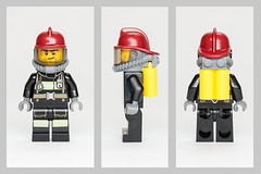 60088-1 Fireman (legoinmotiontv) Tags: city fire lego review minifig minifigs 60088