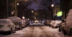 Escaping Snowpocalypse 2015 (Tasayu Tasnaphun) Tags: city nyc newyorkcity winter urban snow car brooklyn night blizzard ridgewood snowpocalypse snowmageddon snowpocalypse15