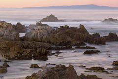 Silky TK9A5289 (lycheng99) Tags: california longexposure beach nature landscape golden rocks waves pacific pacificocean pacificgrove pacificcoast goldenhour silky californiacoast rockformation goldenmoment