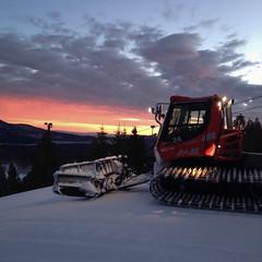 Sunrise and Snowcat