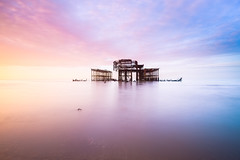 West Pier (Julian@Hove) Tags: winter seascape sunrise sussex brighton westpier britishseascapes