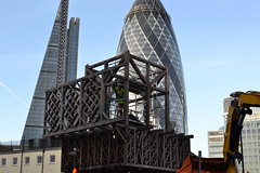 2015-01-11: Bringing The House Down (psyxjaw) Tags: sculpture house london walk sunday towers taken down aldgate builder cityoflondon dismantled londonist
