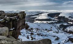 Hope Valley from Owler Tor (Thousands of Jackdaws) Tags: winter snow cold nikon rocks peakdistrict peaks d800 hopevalley owler owlertor