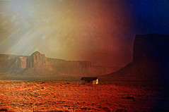 MONUMENT VALLEY NAVAJO TRIBAL PARK (janetfo747 ~ Pray for Peace) Tags: sun monument clouds utah sandstone shadows desert dirt valley dust masterpiece formations azorina spellbinding towersscenic scenerhy