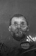 Concrete , Rajoy (Victor.Colas) Tags: street bw streetart self graffiti streetphotography bn zaragoza epson hp5 28 developed canonet ilford id11 v370