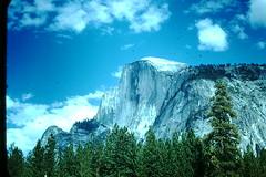 Half Dome- Yosemite- 1940s (foundslides) Tags: old nature vintage john landscape photography scenery pix natural pics retro oldphoto kodachrome oldpictures wilderness slides foundslides oldphotos rudd redborder johnrudd irmalouiserudd johnhrudd