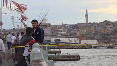 on Galta bridge (rex.d) Tags: bridge turkey fishing guys istanbul smoking bosphorus galata