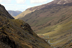 Honister pass (Cumberland Patriot) Tags: road park mountain lake mountains english rock landscape track path district hill pass hills national cumbria fells scree slate fell cumberland crag honister