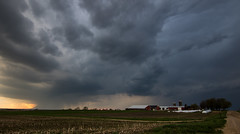 Stormy Evening.... (Kevin Povenz) Tags: road storm field rain weather clouds kevin farm ottawa stormy rainy april thunderstorm dirtroad storms stormyweather farmersfield 2016 ottawacounty canon7dmarkii kevinpovenz