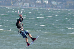 Getting some air (clare.blandford) Tags: hampshire solent windsurfer calshot southamptonwater
