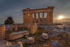 Parthenon  (kaising_fung) Tags: sun temple afternoon columns ruin athena doric